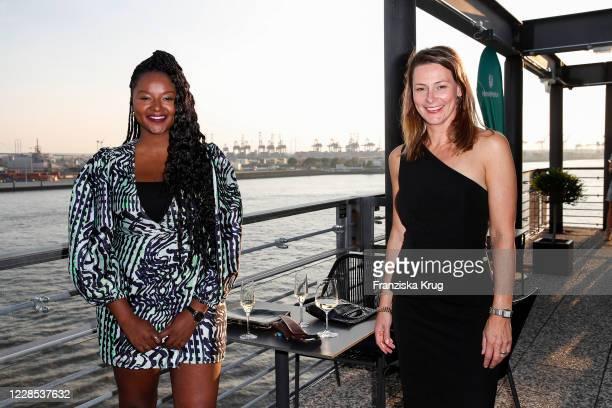 Aminata Toure and Anja Reschke during the Emotion Award 2020 on September 15 2020 in Hamburg Germany