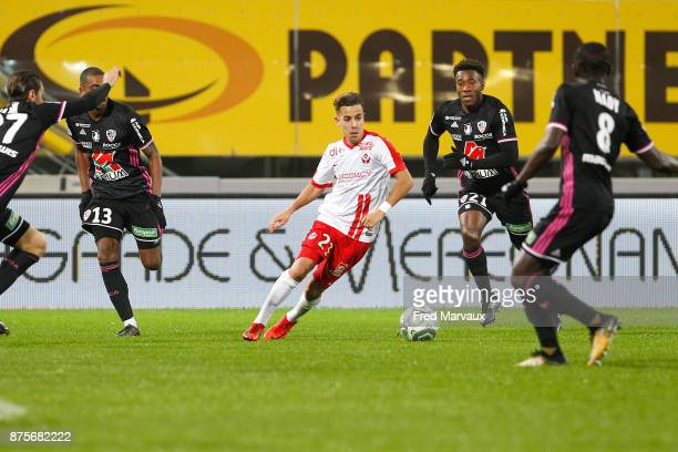 Amine Bassi of Nancy during the Ligue 2 match between AS Nancy and AC Ajaccio on November 17 2017 in Nancy France