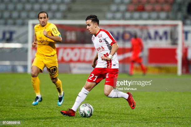 Amine Bassi of Nancy during the Ligue 2 match between Nancy and Brest on January 26 2018 in Nancy France