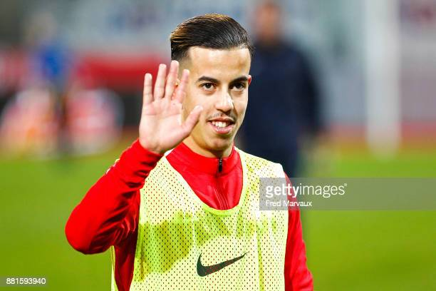 Amine Bassi of Nancy during the Ligue 2 match between Nancy and Le Havre on November 28 2017 in Nancy France