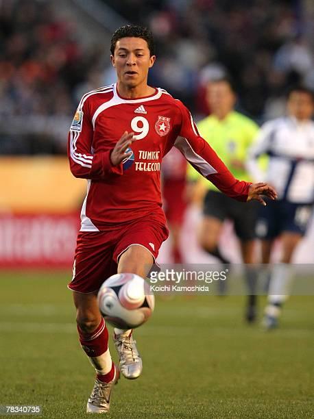 Amine Chermiti of Etoile Sportive du Sahel controls the ball during the FIFA Club World Cup Japan 2007 match Etoile Sportive du Sahel and Pachuca at...