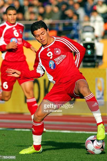 Amine Chermiti of Etoile Sportive du Sahel controls the ball during the FIFA Club World Cup Japan 2007 match between Etoile Sportive du Sahel and...