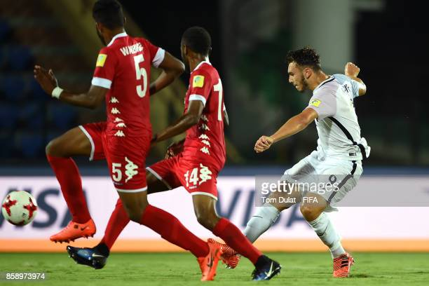 Amine Gouiri of France in action during the FIFA U17 World Cup India 2017 group E match between New Caledonia and France at Indira Gandhi Athletic...