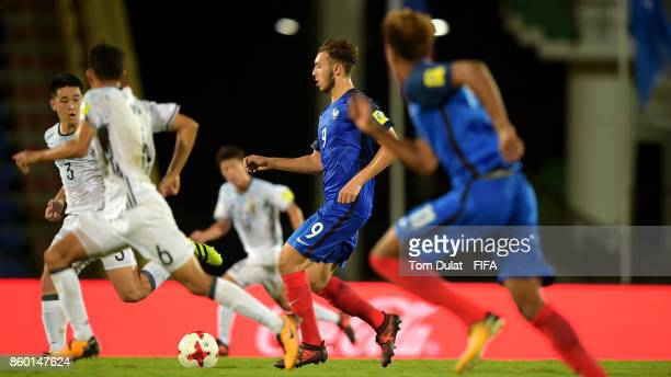 Amine Gouiri of France in action during the FIFA U17 World Cup India 2017 group E match between France and Japan at Indira Gandhi Athletic Stadium on...