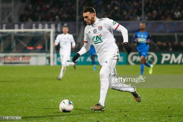Amine GOUIRI of Lyon during the French Cup match between Bourg en Bresse and Lyon on January 4, 2020 in Bourg-en-Bresse, France.