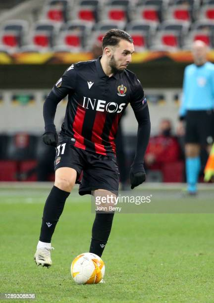 Amine Gouiri of Nice during the UEFA Europa League Group C stage match between OGC Nice and Bayer 04 Leverkusen at Allianz Riviera stadium on...