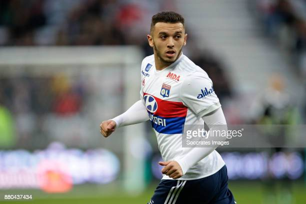 Amine Gouiri of Olympique Lyon during the French League 1 match between Nice v Olympique Lyon at the Allianz Riviera on November 26 2017 in Nice...