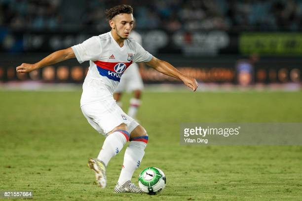 Amine Gouiri of Olympique Lyonnais reacts during the 2017 International Champions Cup football match between FC Internationale v Olympique Lyonnais...