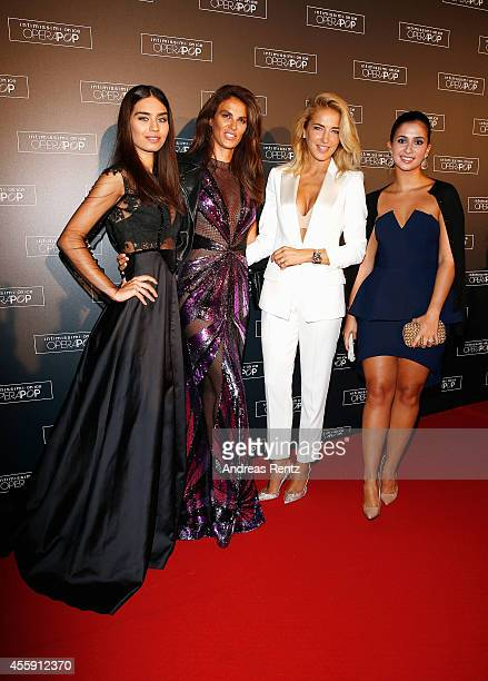Amine Gulse Tulin Sahin Burcu Esmersoy and Buse Terim attend Intimissimi on Ice OperaPop at the Arena di Verona on September 20 2014 in Verona Italy...