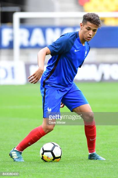 Amine Harit of France during the Under 21s Euro 2019 qualifying match between France U21 and Kazakhstan U21 on September 5 2017 in Le Mans France