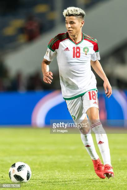 Amine Harit of Morocco during the international friendly match between Morocco and Uzbekistan at the Stade Mohammed V on March 27 2018 in Casablanca...