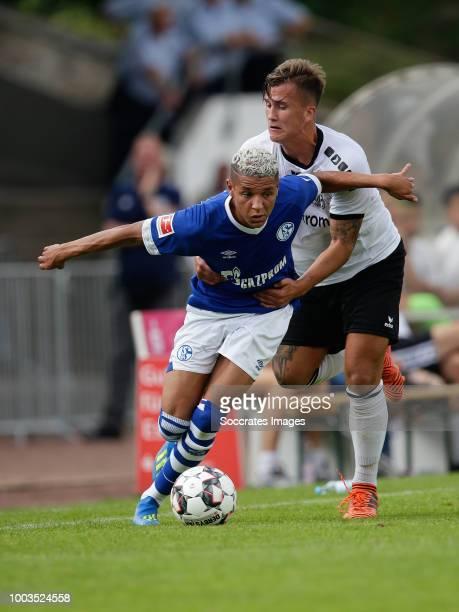 Amine Harit of Schalke 04 during the Club Friendly match between Schalke 04 v Schwarz Weiss Essen at the Uhlenkrugstadion on July 21 2018 in Essen...