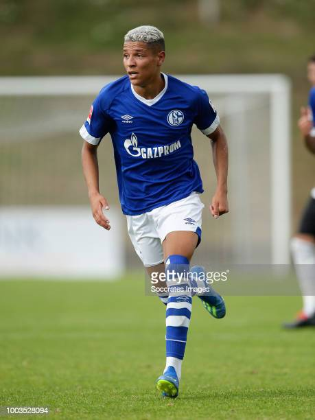 Amine Harit of Schalke 04 during the Club Friendly match between Schalke 04 v Schwarz Weiss Essen at the Uhlenkrugstadion on July 21 2018 in Essen...