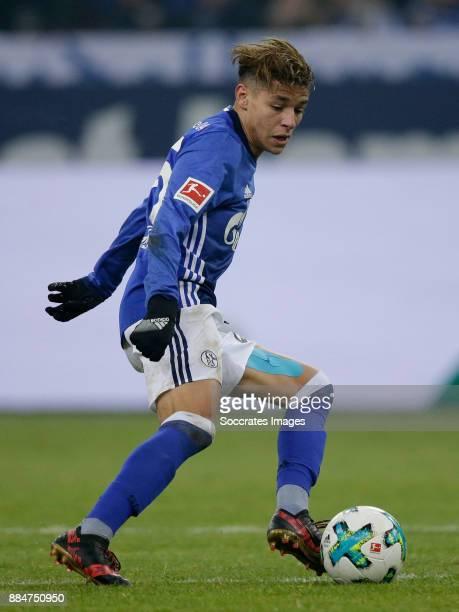Amine Harit of Schalke 04 during the German Bundesliga match between Schalke 04 v 1 FC Koln at the Veltins Arena on December 2 2017 in Gelsenkirchen...