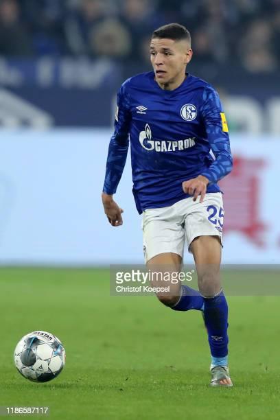 Amine Harit of Schalke during the Bundesliga match between FC Schalke 04 and Fortuna Duesseldorf at VeltinsArena on November 09 2019 in Gelsenkirchen...