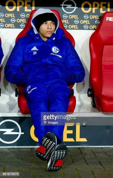 Amine Harit of Schalke looks on during the Bundesliga match between 1 FSV Mainz 05 and FC Schalke 04 at Opel Arena on March 9 2018 in Mainz Germany