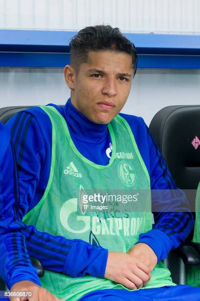 Amine Harit of Schalke sits on the bench during the preseason friendly match between SC Paderborn and FC Schalke 04 at BentelerArena on July 15 2017...