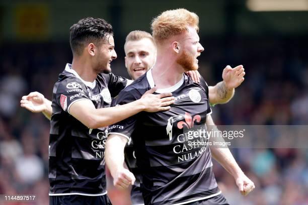 Amine Khammas of FC Den Bosch Jort van der Sande of FC Den Bosch celebrate goal during the Dutch Keuken Kampioen Divisie match between Go Ahead...