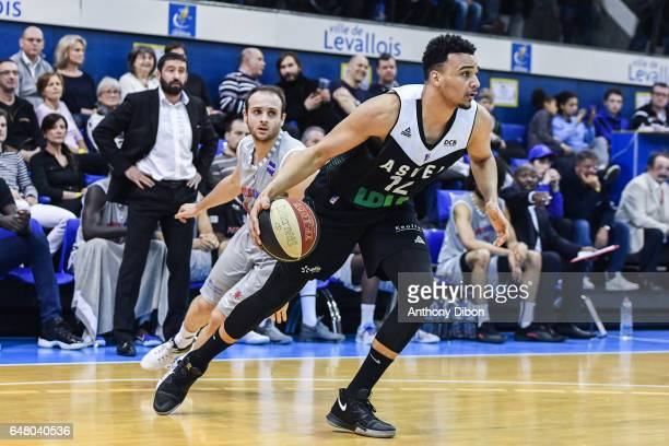Amine Noua of Asvel during the French Pro A match between Paris Levallois and Lyon Villeurbanne at Salle Marcel Cerdan on March 4 2017 in Paris France