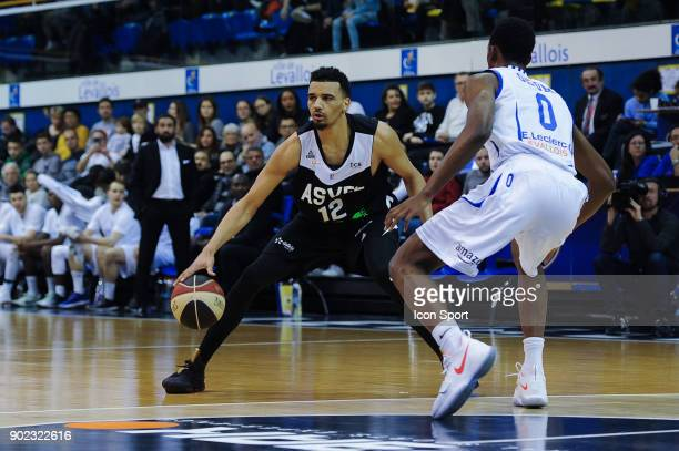 Amine Noua of ASVEL during the Ligue A match between Levallois and Lyon Villeurbanne Asvel on January 7 2018 in LevalloisPerret France