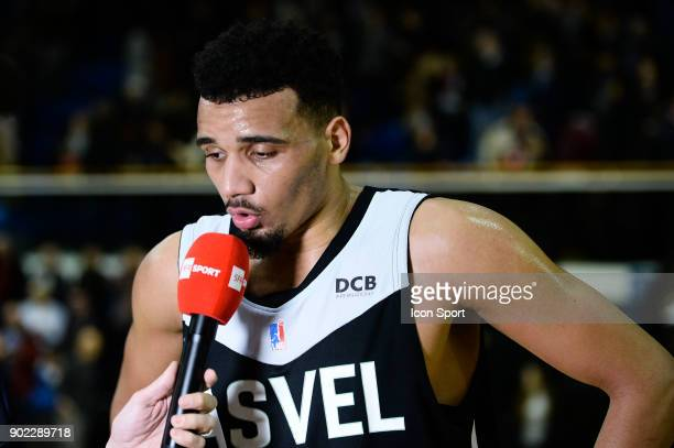 Amine Noua of ASVEL looks dejected after the Ligue A match between Levallois and Lyon Villeurbanne Asvel on January 7 2018 in LevalloisPerret France