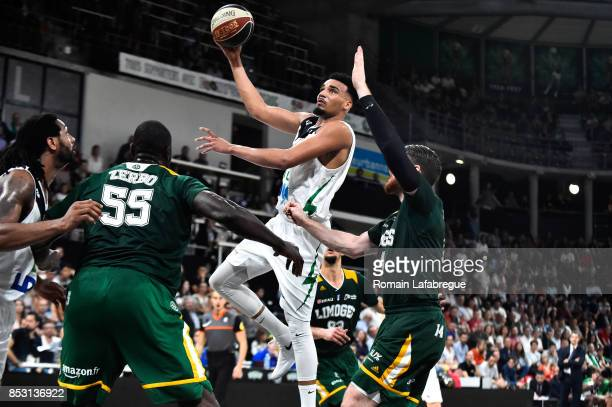 Amine Noua of Lyon of Villeurbanne during the Pro A match between ASVEL and Limoges on September 24 2017 in Villeurbanne France