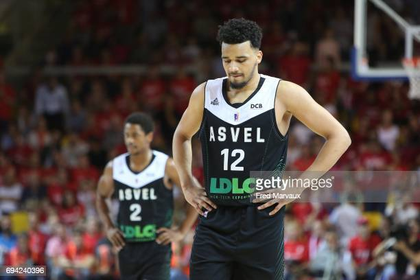 Amine Noua of Lyon Villeurbanne looks dejected during the Pro A PlayOff match between Strasbourg and Lyon Villeurbanne on June 9 2017 in Strasbourg...