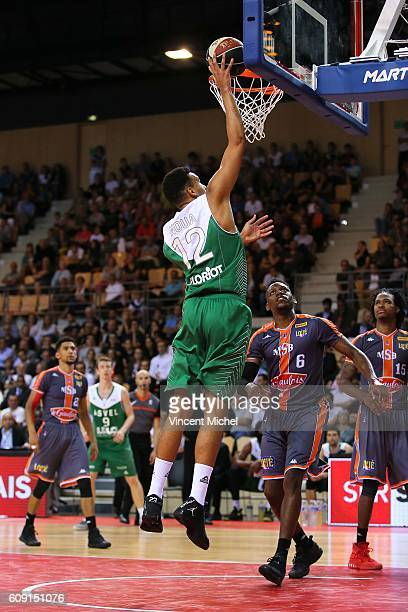 Amine Noua of LyonVilleurbanne during the Basketball Champions Game between Lyon Villeurbanne and Le Mans on September 20 2016 in MouilleronleCaptif...