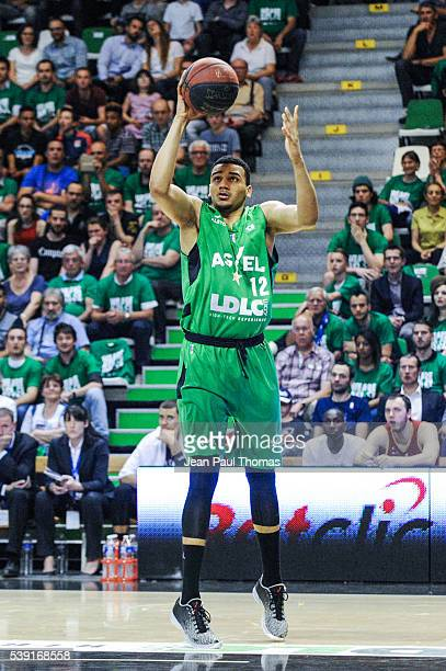 Amine NOUA of Villeurbanne during the Pro A Final between ASVEL and Strasbourg at The Astroballe on June 9 2016 in Villeurbanne France