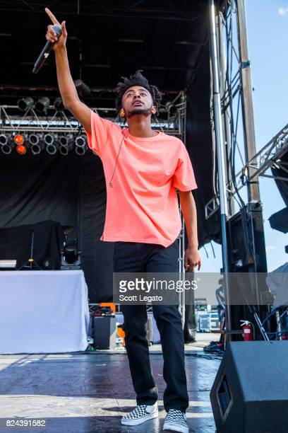 Amine' performs during day 1 of Mo Pop Festival at Detroit Riverfront on July 29 2017 in Detroit Michigan