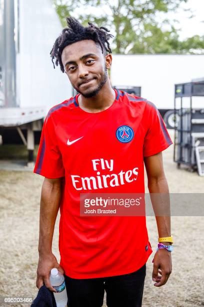 Amine poses for a photo backsage during the Bonnaroo Music Arts Festival on June 11 2017 in Manchester Tennessee
