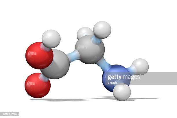 Amino acid glycine ball and stick model
