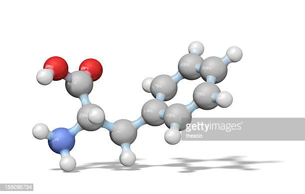 amino acid phenylalanine - theasis stockfoto's en -beelden