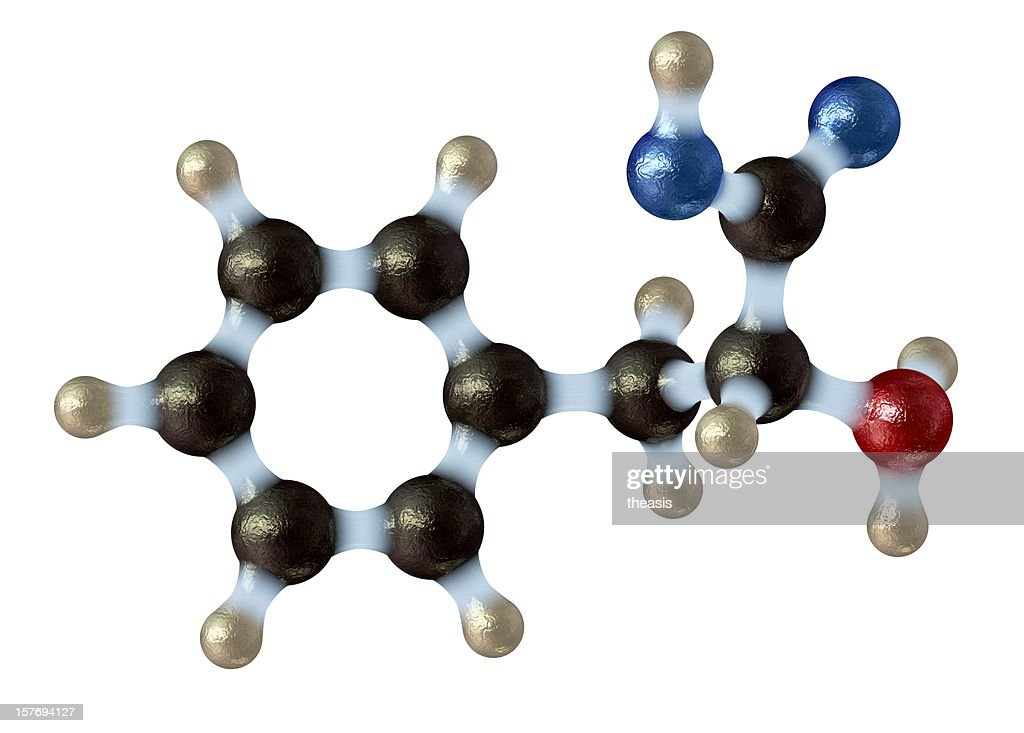 Amino Acid Phenylalanine : Stock Photo