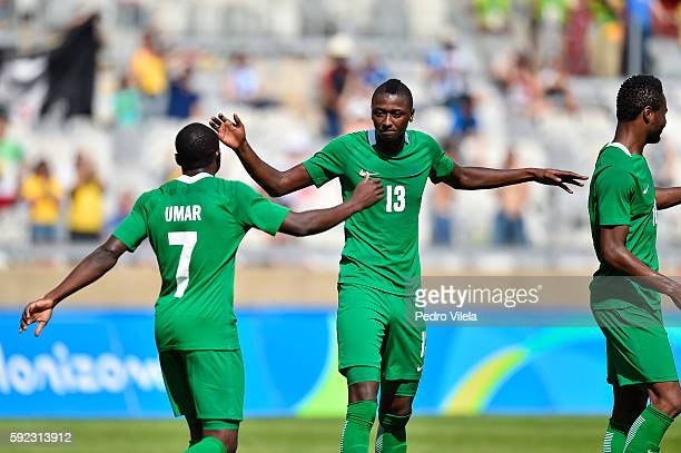 Aminu UMAR and Sadiq UMAR of Nigeria celebrates a scored goal against Honduras during a match between Nigeria and Honduras as part of Men`s Football...