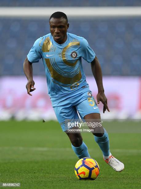 Aminu Umar of Osmanlispor during the Turkish Super lig match between Istanbul Basaksehir v Osmanlispor at the Fatih Terimstadion on December 3 2017...