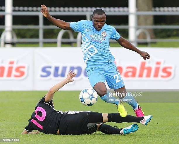 Aminu Umar of Osmanlispor in action during the UEFA Champions League Third qualifying round match between Nomme Kalju and Osmanlispor at the Kadriorg...