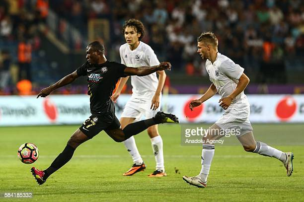 Aminu Umar Osmanlispor in action during the UEFA Europa League Third qualifying round match between Osmanlispor and Nomme Kalju at Ottoman Stadium in...
