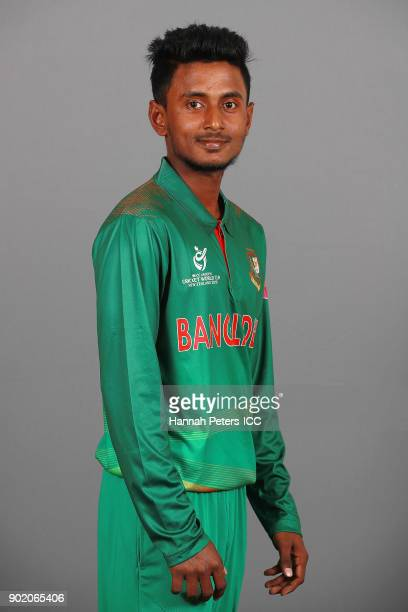 Aminul Islam Biplob poses during the Bangladesh ICC U19 Cricket World Cup Headshots Session at Rydges Christchurch on January 7 2018 in Christchurch...