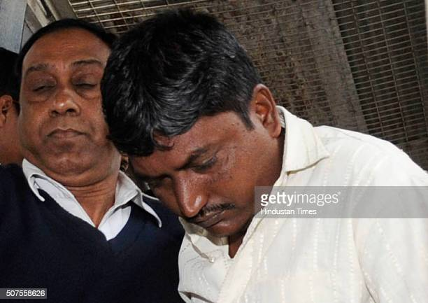 Aminul Islam one of the culprits in 2013 Kamduni gangrape and murder case comes out from prison van after being pronounced guilty at City Session...