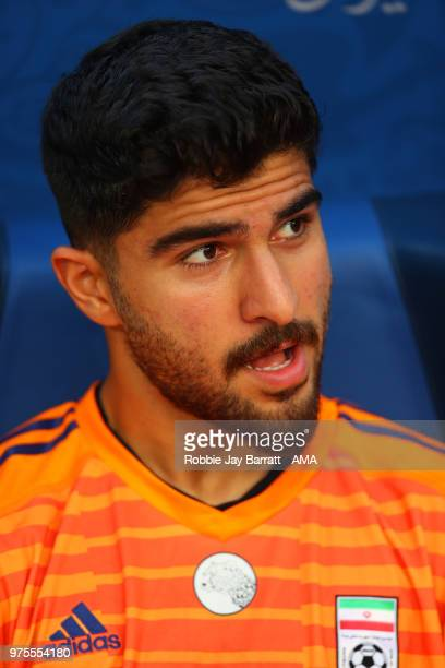 Amir Abedzadeh of IR Iran ooks on from the bench prior to the 2018 FIFA World Cup Russia group B match between Morocco and Iran at Saint Petersburg...