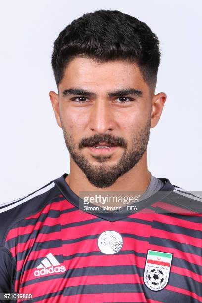 Amir Abedzadeh of Iran poses during the official FIFA World Cup 2018 portrait session at Bakovka Training Base on June 9 2018 in Moscow Russia