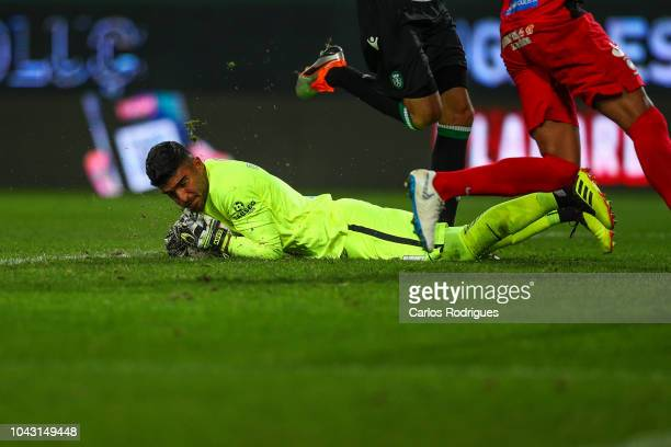 Amir Abedzadeh of CS Maritimo during the Liga NOS match between Sporting CP and CS Maritimo at Estadio Jose Alvalade on September 29 2018 in Lisbon...
