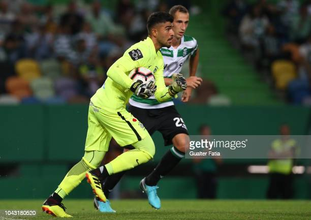 Amir Abedzadeh of CS Maritimo in action during the Liga NOS match between Sporting CP and CS Maritimo at Estadio Jose Alvalade on September 29 2018...