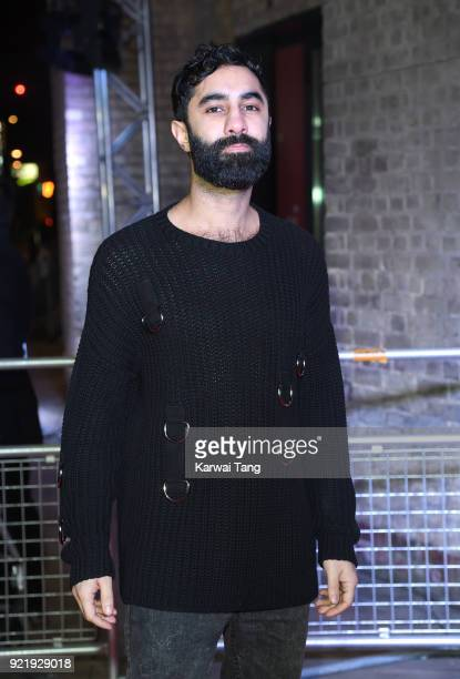 Amir Amor attends the Naked Heart Foundation's Fabulous Fund Fair during London Fashion Week February 2018 at the Roundhouse on February 20 2018 in...
