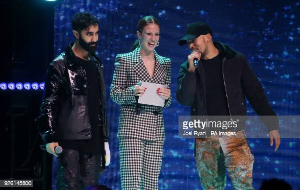 Amir Amor Jess Glynne and Kesi Dryden at The Global Awards a brand new awards show hosted by Global the Media Entertainment group at London's Eventim...