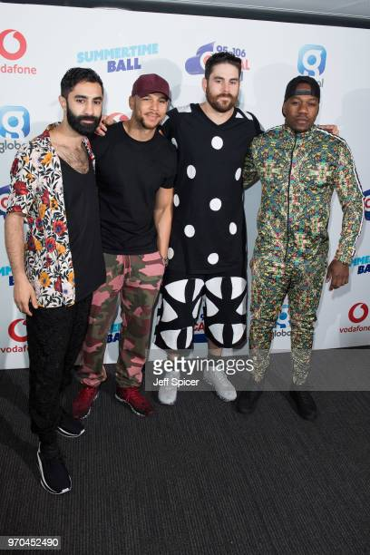 Amir Amor Kesi Dryden Piers Agget and Leon Rolle from Rudimental attend the Capital Summertime Ball 2018 at Wembley Stadium on June 9 2018 in London...