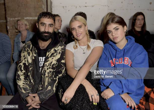 Amir Amor Tiger Lily Taylor and Molly Moorish attend the Nicopanda SS19 LFW Runway Show on September 14 2018 in London England