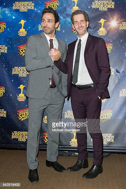 Amir Arison and Aaron Abrams pose in the press room at the 42nd Annual Saturn Awards at The Castaway on June 22 2016 in Burbank California