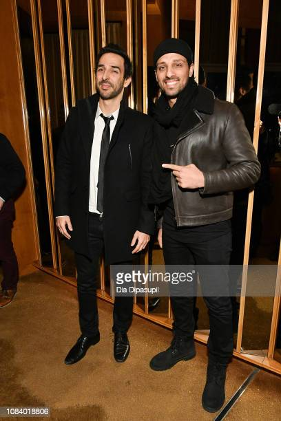 Amir Arison and Ari'el Stachel attend the 'Mary Poppins Returns' screening after party hosted by The Cinema Society at The Top of The Standard on...